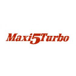 """""""Maxi 5 turbo"""" lettrage..."""