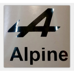 """A"" de Alpine, Logo Chrome..."