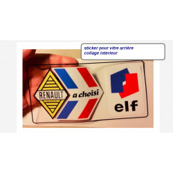 """Renault Elf"" sticker de vitre"
