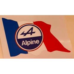Sticker Alpine drapeau...