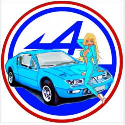"""sticker vintage """"Alpine..."""