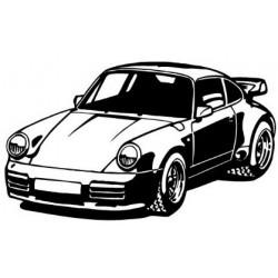 PORSCHE 911- silhouette en...