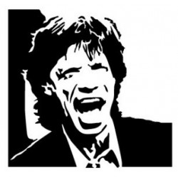 MIKE JAGGER, Sticker...