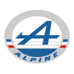 ALPINE Logo macaron ovale...