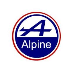 Alpine sticker macaron bleu...