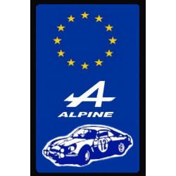 plaque Alpine Renault (R878)