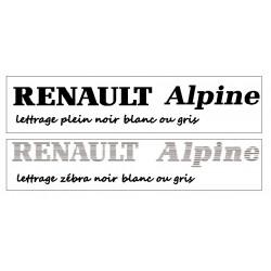 Alpine lettres zebra A310....