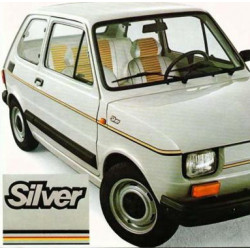 FIAT 126 serie Silver logo...