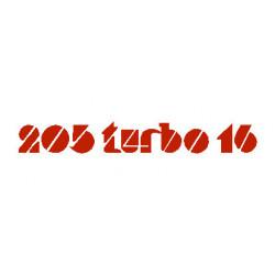 """PEUGEOT """"205 turbo 16""""..."""