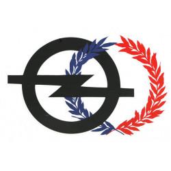 Logo Opel avec palmes modéle 1